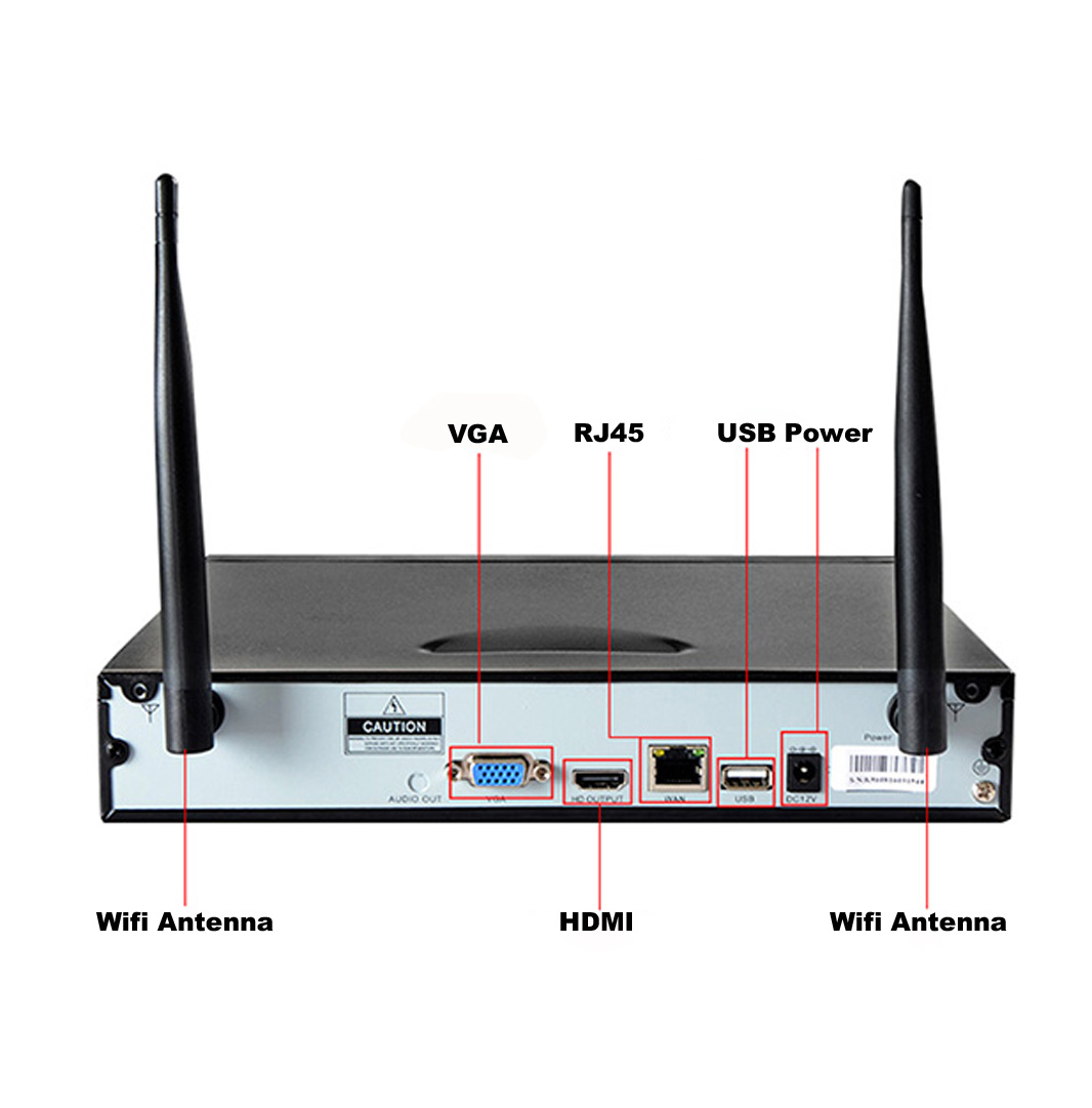 4CH Dome 720P WIFI NVR Kit